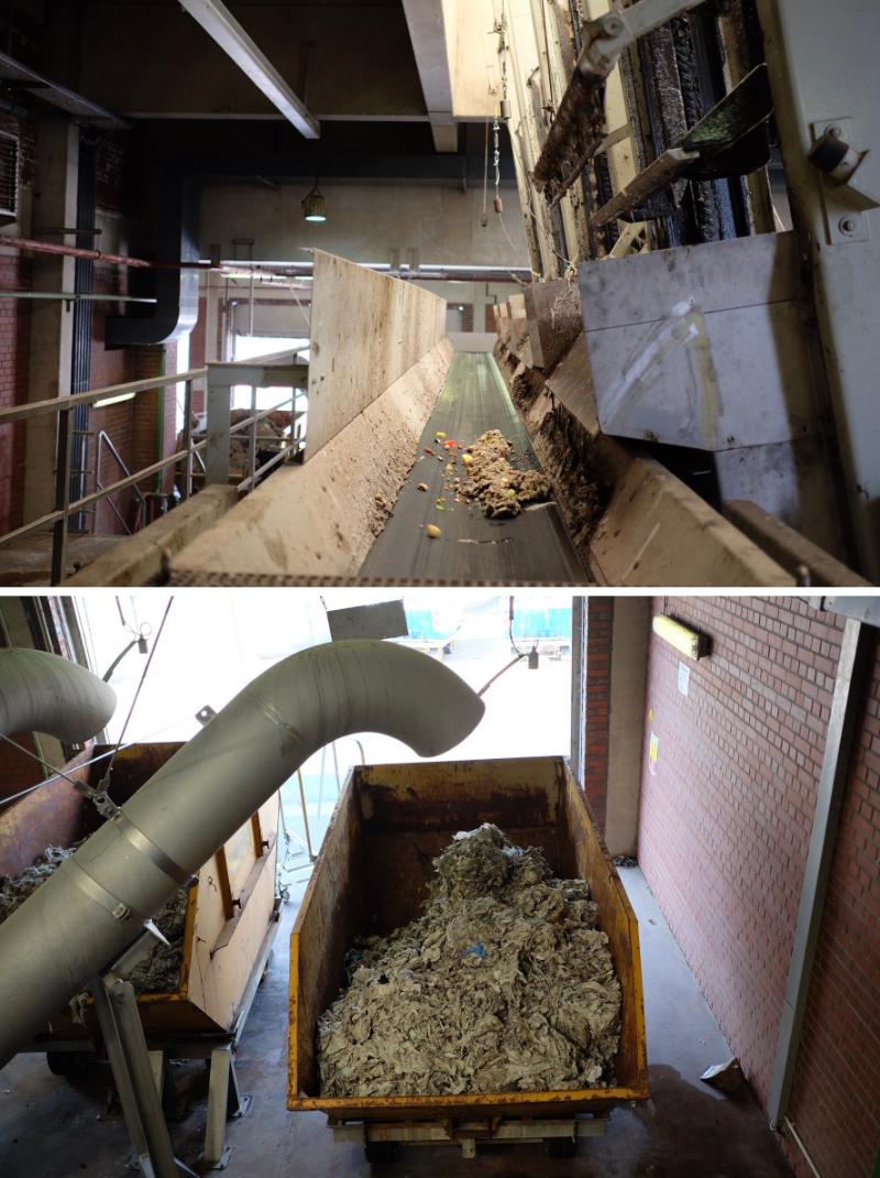 Feste Bestandteile aus dem Abwasser im Klärwerk Hannover-Herrenhause WELCOMESPY