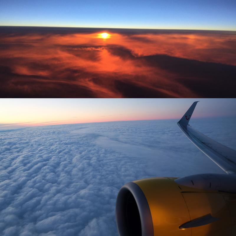 ABENDFLUG-Sonnenuntergang