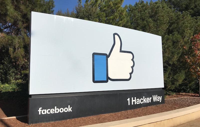 Logo Facebook in Menlo Park