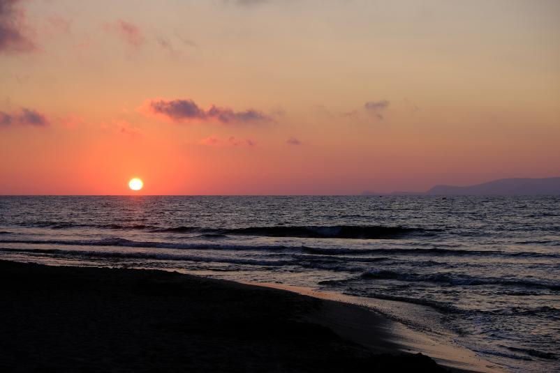 Sonnenuntergang-Kreta
