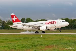 Swiss A319 in Hannover